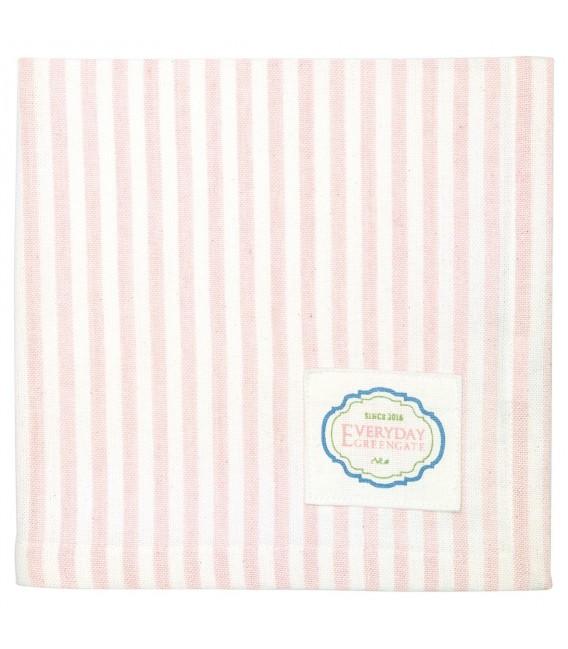 Stofserviet - Alice Pale Pink - Napkin With Stipe