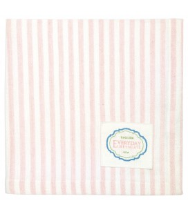 Stofserviet - Alice Stripe Pale Pink - Napkin With Stipe