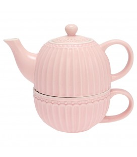 Tesæt - Alice Pale Pink - Tea For One