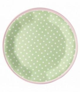Tallerken melamin - Spot pale green - Plate