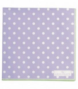 Servietter Spot lavendar - Napkin small 20pcs