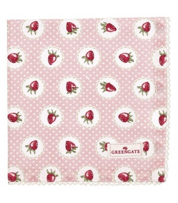 Stofserviet, Strawberry Pale Pink