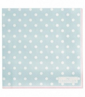 Servietter Spot pale blue - napkin small 20pcs