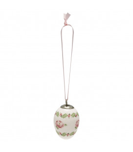 Påskeæg - Lily petit white - Decorative egg set of 2