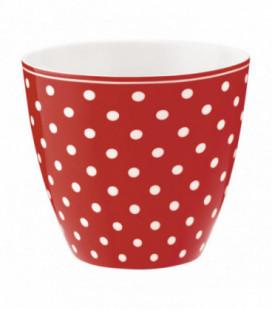 Lattekop - Spot red - Latte cup