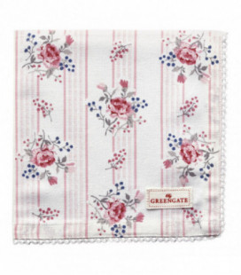 Stofserviet - Fiona pale pink - Napkin with lace