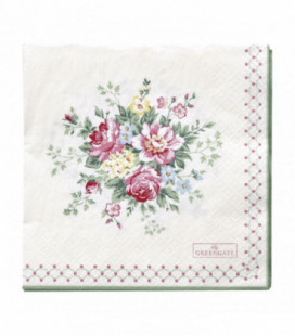 Servietter - Aurelia white large 20pcs - Napkin