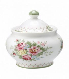 Sukkerskål - Aurelia white - Sugar pot round