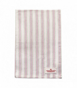 Viskestykke - Silvia stripe white - Tea towel