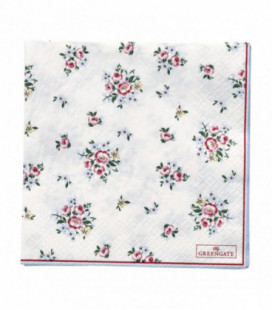 Servietter - Nicoline white large 20pcs - Napkin