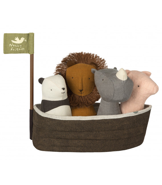 Noah's ark m. 4 rangler - with 4 rattles