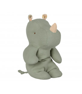 Lille næsehorn - Safari friends - small rhino (Dusty green)