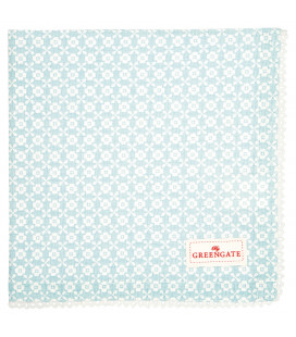 Napkin with lace Helle pale blue