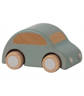 Træbil - lyseblå