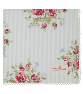 Stofserviet - Nellie Pale Blue - Napkin with lace
