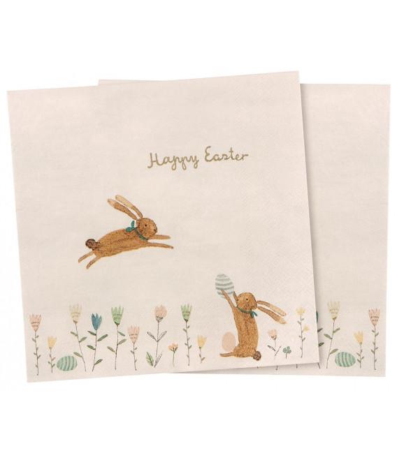 Servietter - Napkin - Happy Easter field