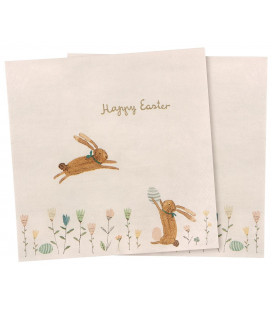 Servietter - Napkin - Happy Easter field