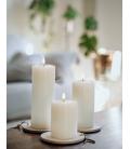 Bloklys - Ivory - Pillar Candle (8x15 cm)