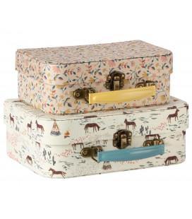 Kuffertsæt i stof (Sæt á 2)