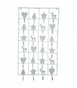 Metal julekalender - White - Xmas calendar