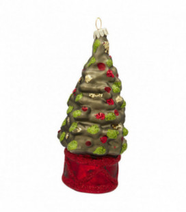 Julekugle - Christmas tree green - Ornament glass