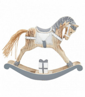 Gyngehest - grey - Decoration rocking horse