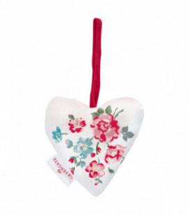 Stofhjerte - Sonia white - Heart (2 pcs)