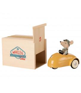 Bil til mus med garage - Gul