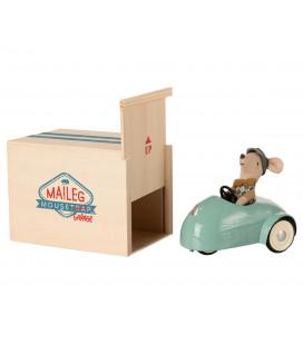 Bil til mus med garage - Blå