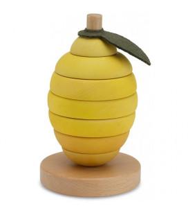 Konges Sløjd - Stabeltårn I Træ, Lemon