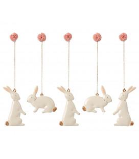 Maileg - Easter Bunny Ornaments (Sæt á 5) FORUDBESTILLING