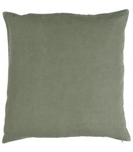 Pudebetræk I Hør, Støvet Grøn (50x50)